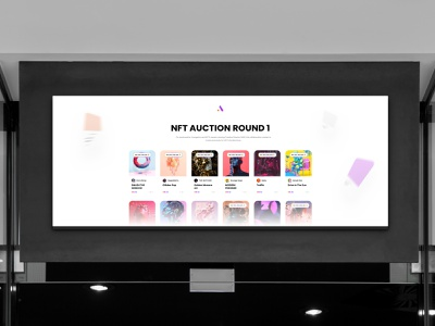 DeFine - NFT Offline Auction 16:9 Screen auction landingpage app wallet ux ui minimal bitcoin crypto minimalist btc blockchain