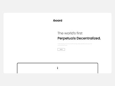 AboardEX - Decentralized Exchange Landing page Animation animation web website index homepage landing page nft currency cex dex exchange ui minimal bitcoin crypto minimalist btc blockchain