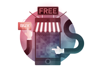 Online Shopping buy button click free device mobile shopping online