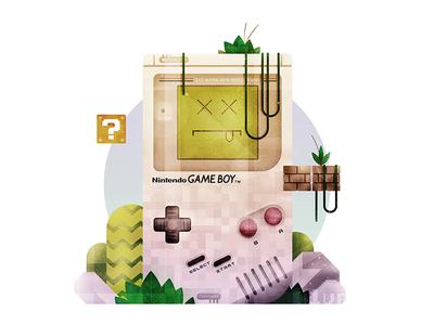 Gameboy Graveyard super-mario hand-held console controller mario gaming nintendo gameboy