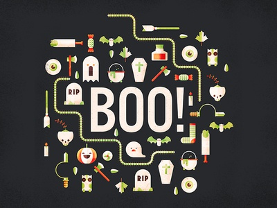 Boo to you cauldron scare fright pumpkin ghost spooky halloween