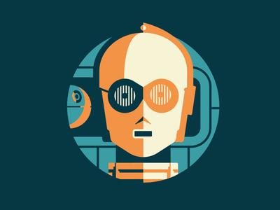 Starwars Droids 1 of 3 science-fiction death star star wars c3po space spaceship jedi robots droids