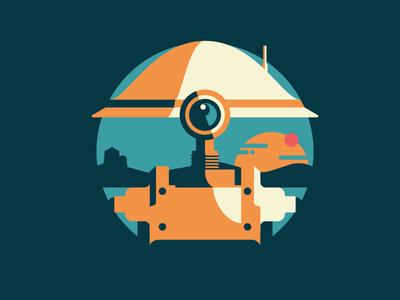 Starwars Droids 5 of 8 science-fiction death star star wars space spaceship jedi robots droids