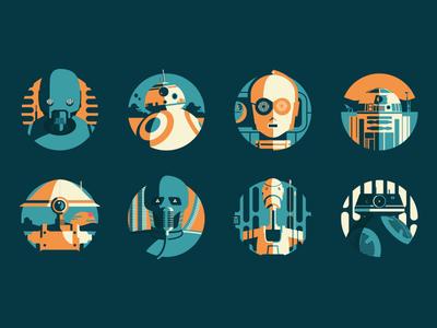 Starwars Droids spaceship space droids robots death star jedi star wars science fiction