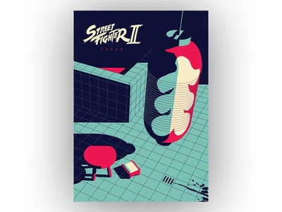 Streetfighter 2 - Japan fan art game art poster capcom japan streetfighter