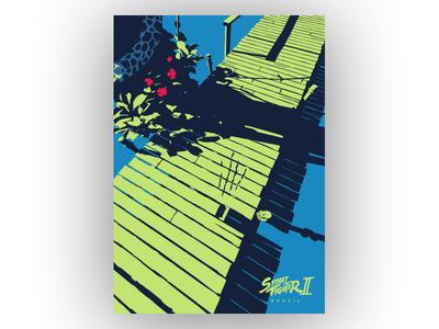 Streetfighter 2 - Brazil popart brazil streetfighter poster art game fanart capcom