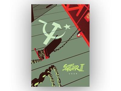 Streetfighter 2 - USSR zangief streetfighter poster pop culture video games fanart russia ussr art