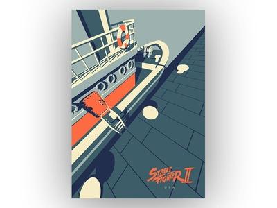 Streetfighter 2 - USA ken streetfighter poster pop culture video games fanart usa art