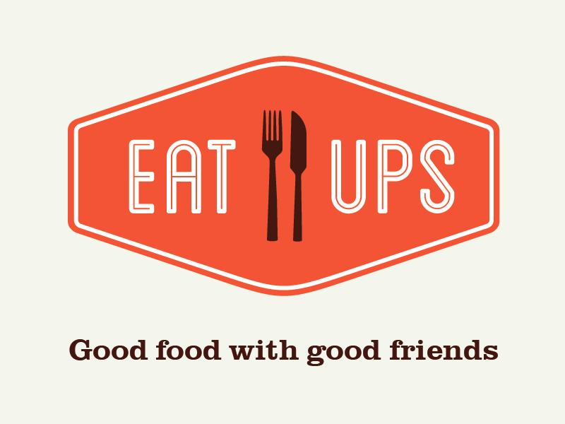 Eat Ups Logo eat ups branding logo