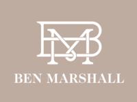 Ben Marshall Monogram Logo