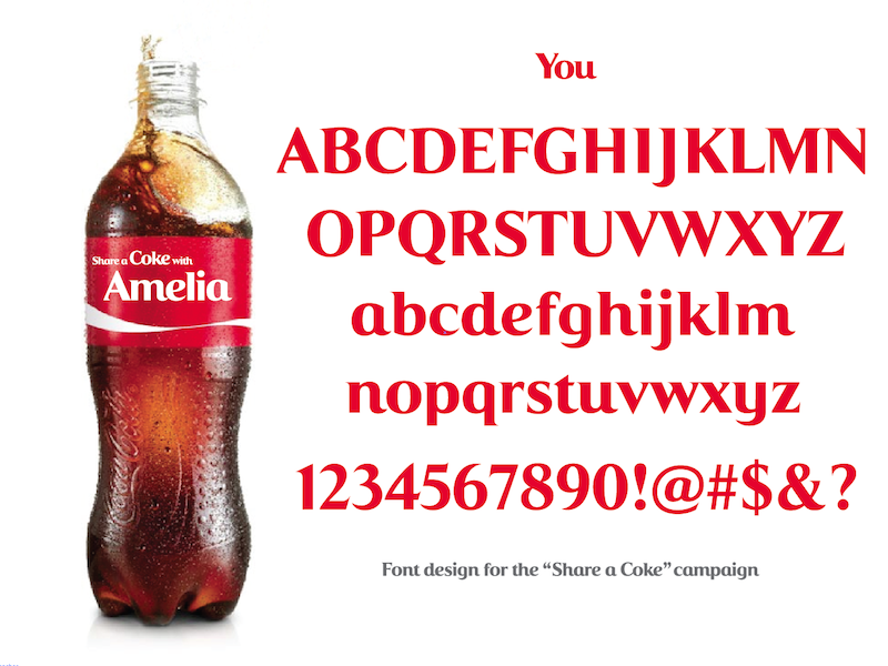 """Share a Coke"" Font logo design branding typography"