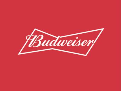 Budweiser Bowtie type branding design logo typography lettering