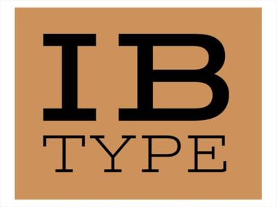 IB Type logo branding design typography type logo lettering