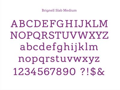Brignell Slab Medium ibtype branding font design type typography