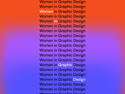 Women In Graphic Design Webinar Graphic (and sketches) gradient typogaphy graphic women education branding figmadesign illustration design