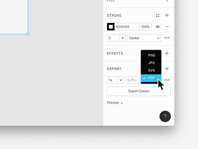 PDF Export in Figma product pdf tool design