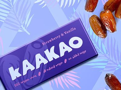 Plant Powered Chocolate natural sweets dates vegan chocolate branding packaging
