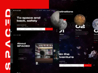 SPACED Homepage Concept