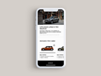 Mini Mobile Interaction // Choose your car