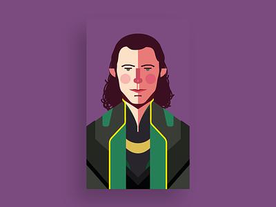 Loki thor vingadores illustrator avenger fan art nerd geek movie illustration flat avengers marvel flat design design comics loki