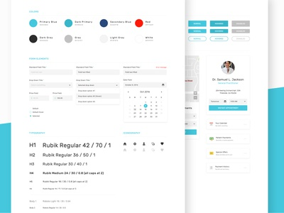 UI Style Guide fields forms medical doctor doctors user interface ui kit web product web app website ui style guide