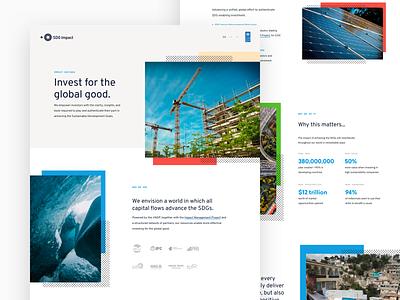United Nations Landing - SDG Impact web clean ui ux landing  page landing website