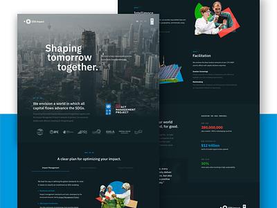 United Nations Landing Dark - SDG Impact ui website builder ux website web dark theme