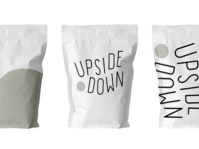 Upside Down Coffee Branding brand design brand coffee brand coffee branding coffee logo deisgn branding and identity logo coffee bag branding