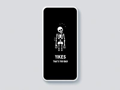 Do or Die Mobile App - Feedback Animations mobile application mobile games game illustration game art games mobile game game mobile app design skeletons skeleton mobile app ui ux animation gif