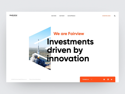 Fairview Capital - Homepage hero section hero landing page load loading animations gift landing website web animation gif ux ui