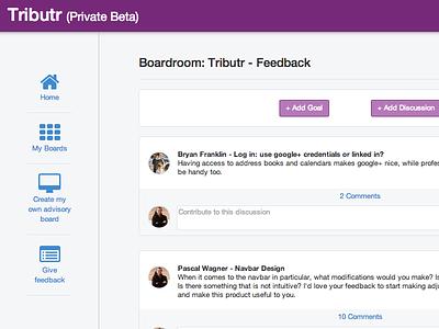 Boardroom (Redesigned) dashboard feed navbar