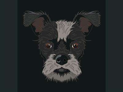 Solo digital illustration design terrier dog illustration lineart illustrator