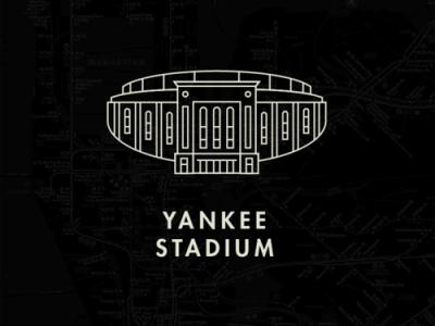 Yankee Stadium Icon baseball line art line work line illustration illustration icon new york yankees