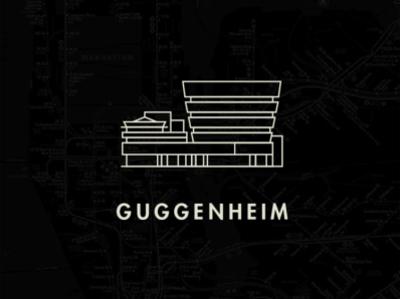 Guggenheim Icon guggenheim line nyc new york icon line illustration illustration