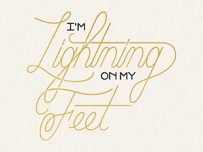 Lightning 2 design textile taylor swift update redo handlettering script typography type
