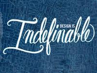Design is Indefinable