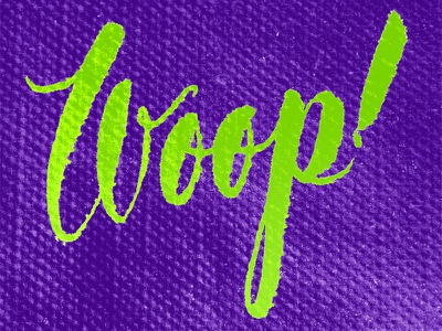 Woop! lettering brush lettering type typography