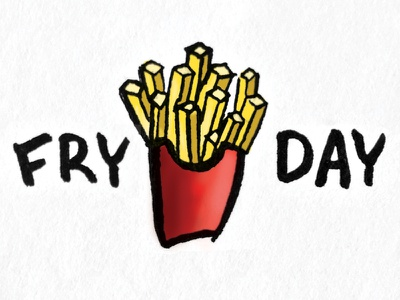 Fry-Day sketch fries french fries illustration puns friday