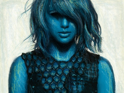 Taylor Swift Illo digital painting. drawing photoshop illustration