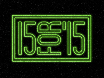 15 For '15 type neon graphic logo