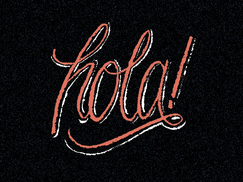 Hola! brush lettering hand lettering lettering typography hola hello