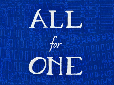 All for One NY new york city nyc new york all for one hand lettering lettering typography