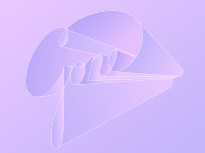 Gone gone perspective cursive illustration type hand lettering lettering typogaphy