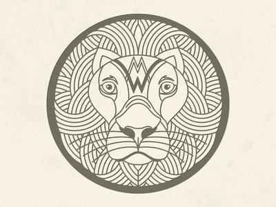 Lion illustrator lion vector line seal logo line art illustration