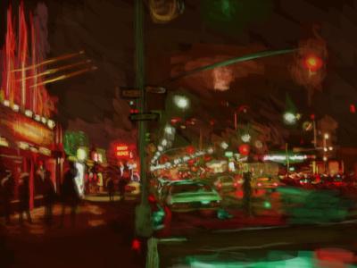 West Village wacom photoshop art illustration photoshop digital painting