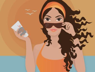Sunscreen Illustration vector illustration