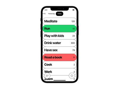 DYNAMICA APP clean minimalist art iphone app interface ios ui