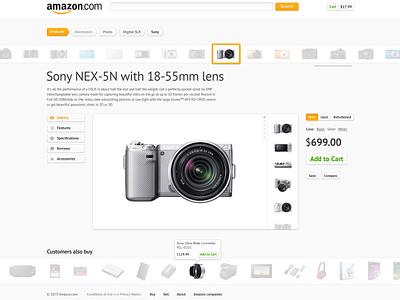 Amazon.com redesign ui web redesign clean concept interface simple white amazon