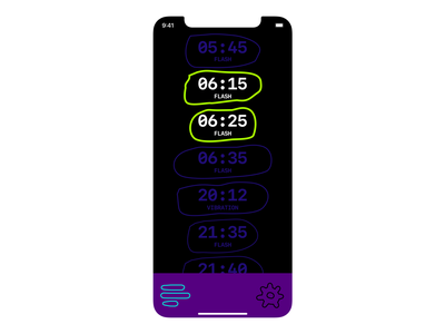 ALARM APP time clock alarm ui ios interface contemporary clean minimalist art app