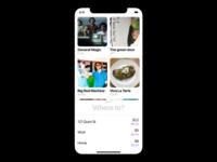 WHERE TO? ux design clean minimalist iphone app interface ios ui